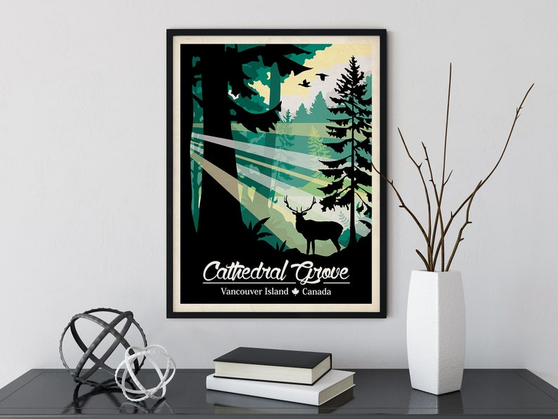 Cathedral Grove Travel Poster image 0