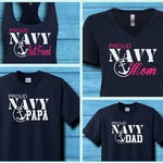 Proud Navy Family Shirts | Anchor | USN | PIR | Military | RTC | Graduation | Boot Camp | Deployment | Military Group | Support | U.S. Navy