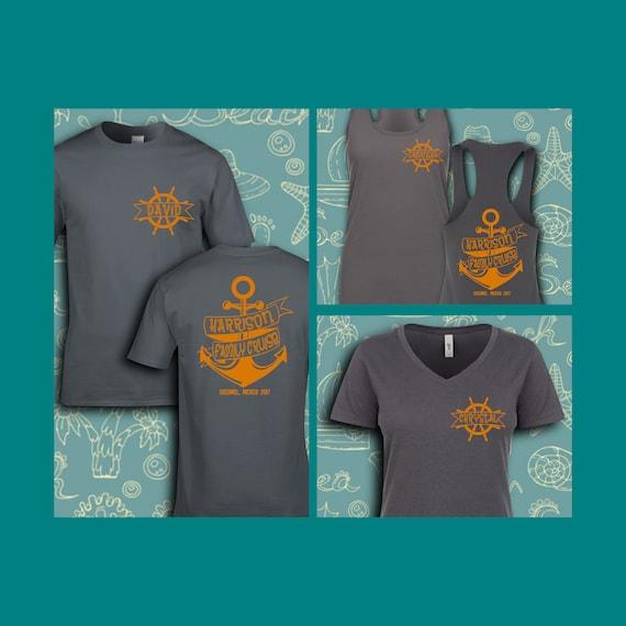8659f5ec2 Ribbon Anchor Family Cruise Shirts Group Cruise | Etsy