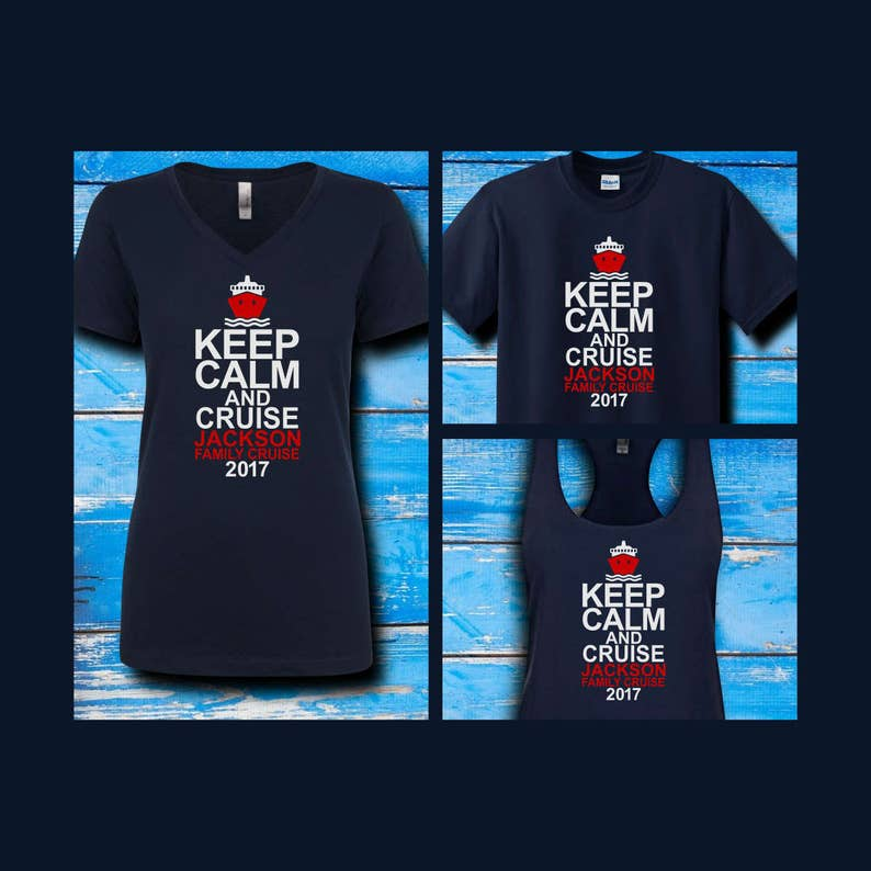 c285fbaf2 Keep Calm and Cruise Family Shirts Family Vacation Group | Etsy
