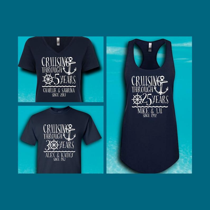 c35a36745 Custom Anniversary Cruise Shirts Family Cruise Group | Etsy