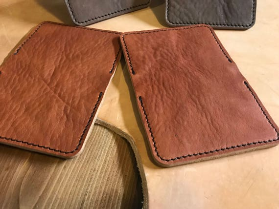 Light Brown Fully Handmade 100/% Bull Leather Compact Stylish Classic Wallet