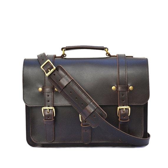 Businessman Leather Briefcase & Laptop Bag | Mens Vintage Leather Messenger Bag | Brown Leather Satchel for Men and Women