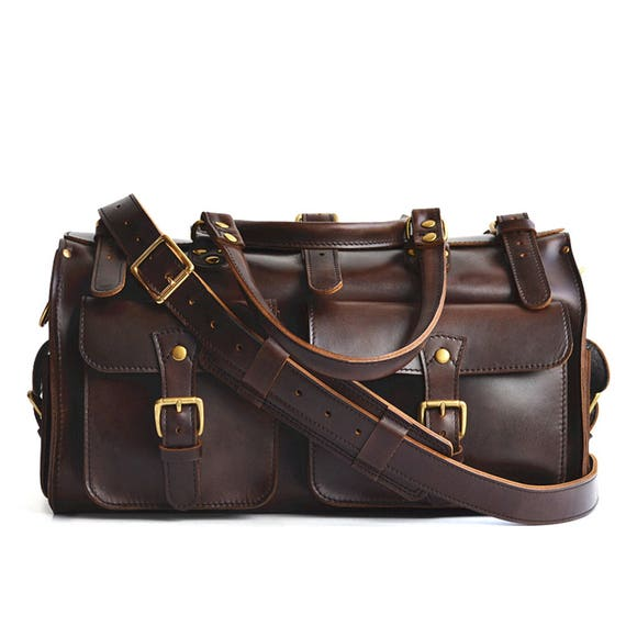Leather Duffle Bag Weekender Bag Mens Leather Travel Bag   Etsy 397c62bdf5