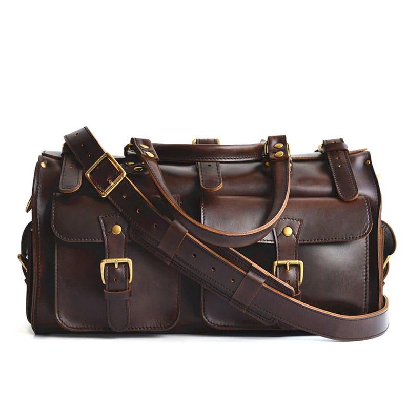 8ff8bda72e Leather Duffle Bag Weekender Bag Mens Leather Travel Bag
