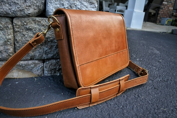 1d5864d0c3c Mens Leather Satchel Leather Crossbody Bag Handmade Leather   Etsy