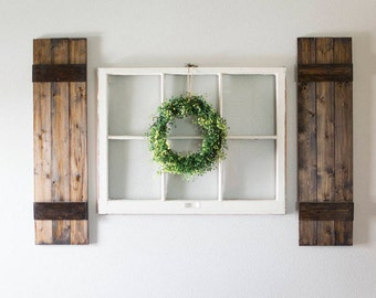Window shutters etsy - Decorative interior wall shutters ...