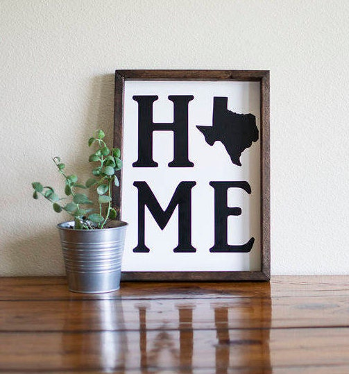 Texas Gifts Texas Home Decor Texas Sign State Sign Moving