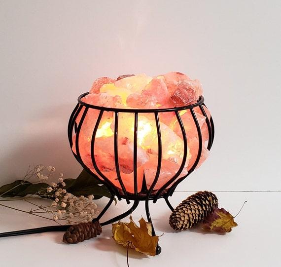 Feng Shui Panier Rose De L Himalaya Sel Cristal Lampe 100 Authentique Himalaya