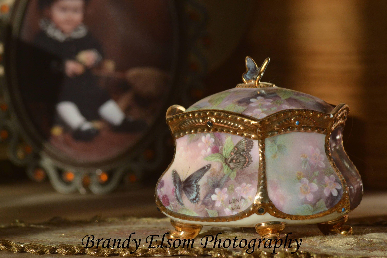 Schmetterling Spieluhr Spieluhr Foto alte altmodische   Etsy