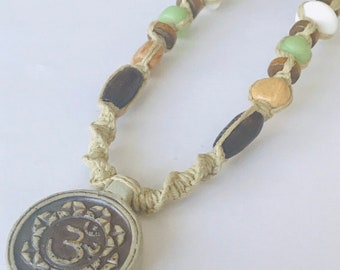 Ohm Handmade Hemp Necklace