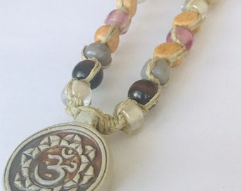 Ohm Raku Hemp Necklace