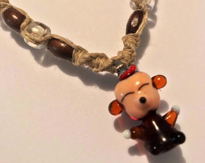 Monkey Hemp Necklace