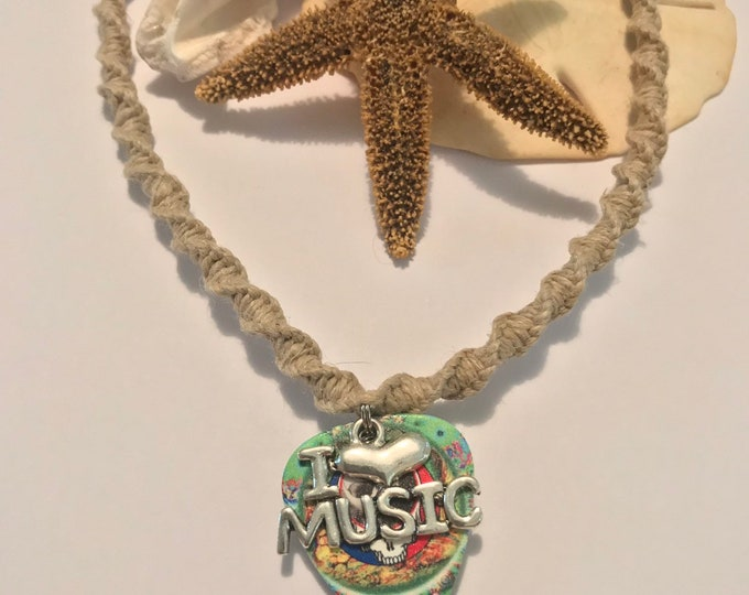 Grateful Dead Handmade Hemp Necklace