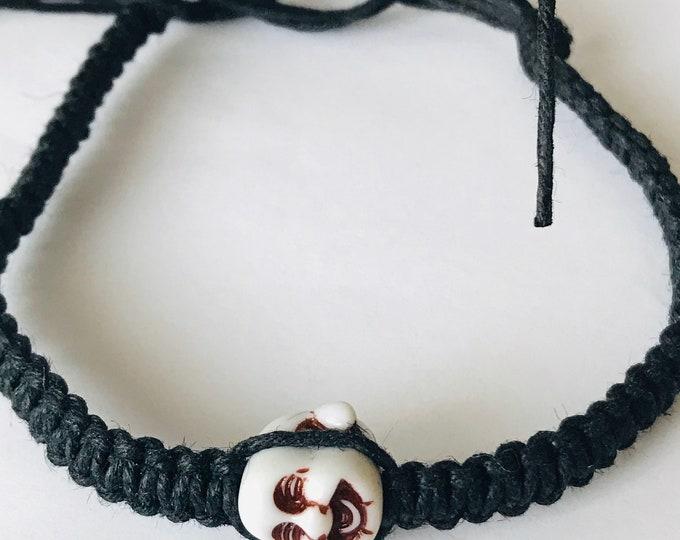 Handmade Black Hemp Buddha Bracelet