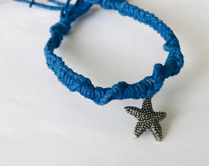 Navt Blue Starfish Hemp Bracelet