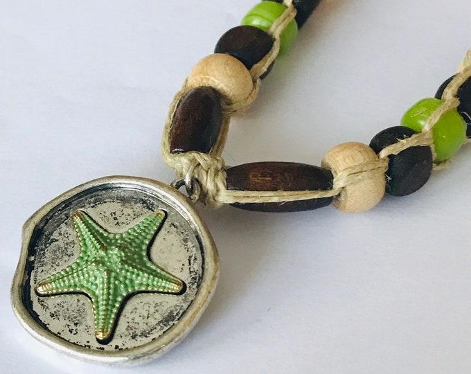 Starfish Pendant on Handmade Hemp Necklace