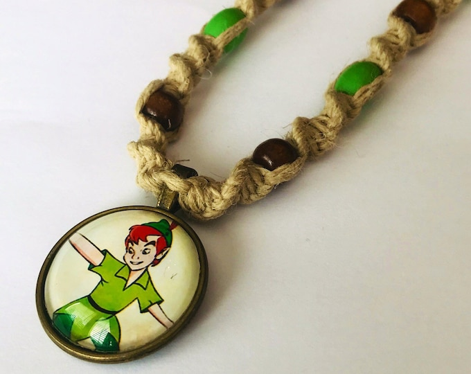 Peter Pan Handmade Hemp Necklace