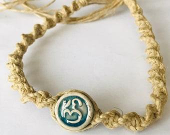Raku Ohm Hemp Bracelet