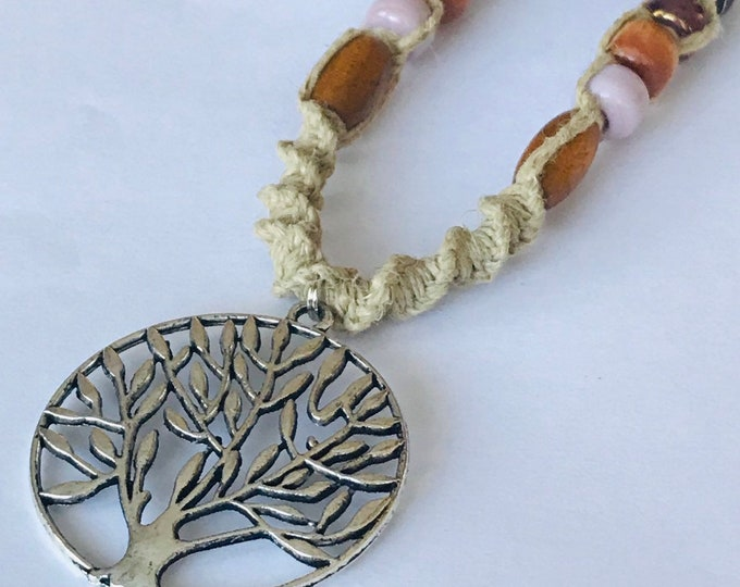 Tree of Life Hemp Necklace