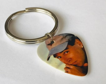 Jimmy Buffett Guitar Pick Keychain