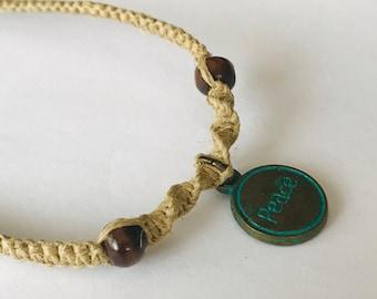 Peace Hemp Bracelet