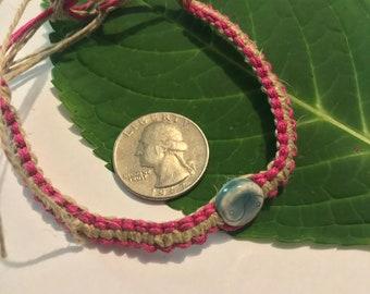 Yin Yang Hemp Bracelet