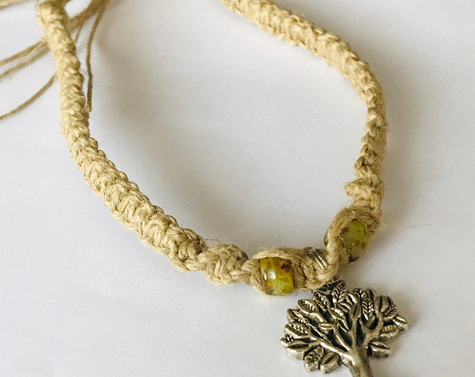 Tree of Life Hemp Bracelet