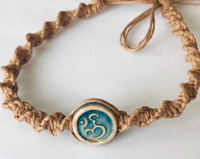 Ohm Brown Hemp Bracelet