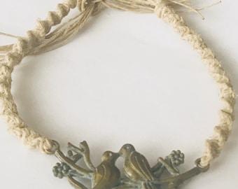 Love Bird Hemp Bracelet