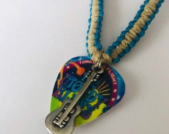 Moody Blues Band Flat Hemp Necklace