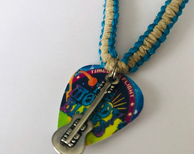 Moody Blues Band Flat Hemp Necklace