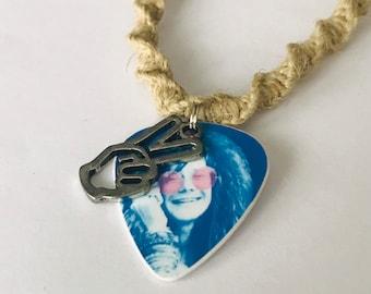 Janie Joplin Peace Sign Hemp Necklace