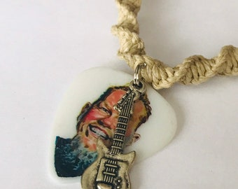Metallica James Hetfield Handmade Hemp Guitar Pick Necklace