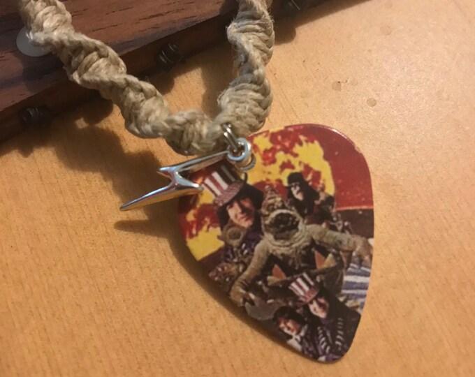 Grateful Dead Guitar Pick Handmade Hemp Necklace