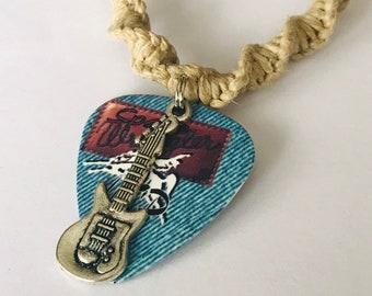 Widespead Panic Guitar Pick Hemp Necklace