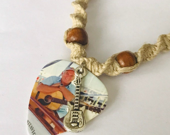 Guitar Pick Hemp Necklace Jimmy Buffett