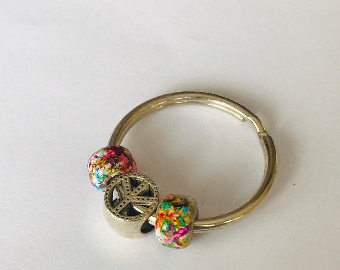 Peace Bead Keychain