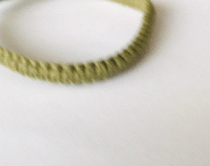 Olive Green Handmade Hemp Tie On Friendship Bracelet