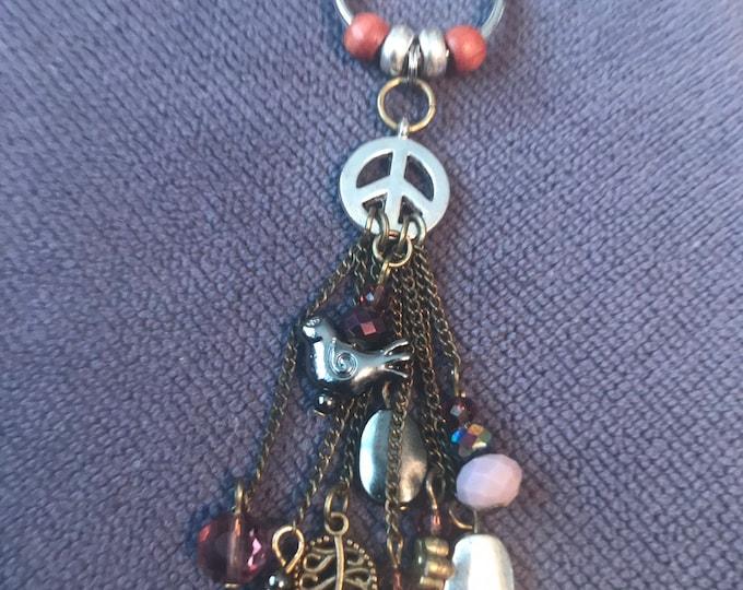 Peace Dangle Keychain