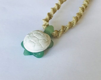 Turtle Hemp Necklace