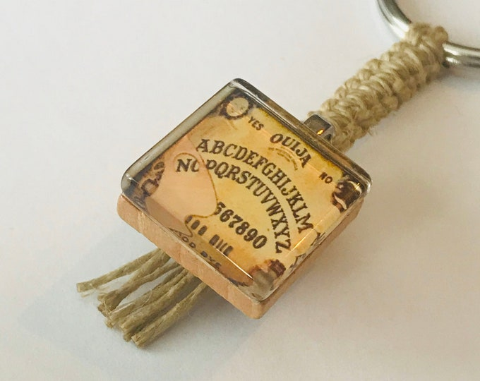 Ouija Scrabble Tile Keychain