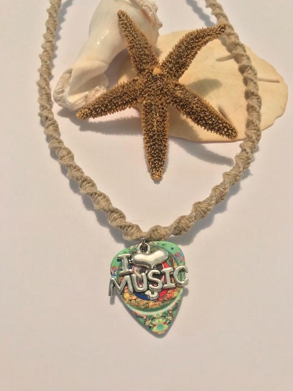 Grateful Dead Handmade Hemp Necklace
