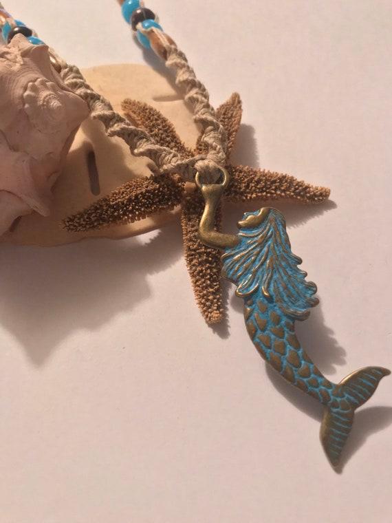 Mermaid Hemp Necklace Handmade