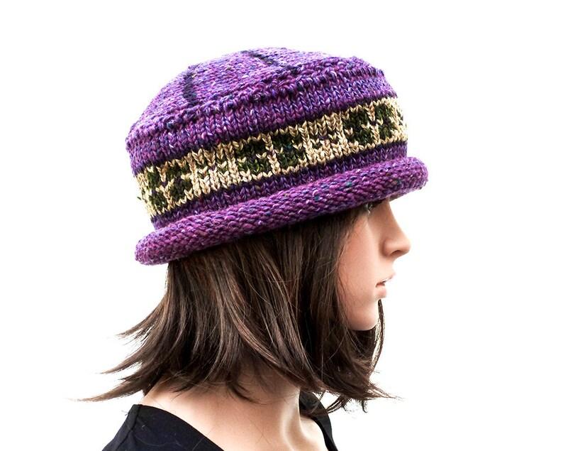 87c7107d01b Handmade Hat Donegal Tweed Hat 100% Wool Hat Knit Hat