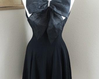 Black Bow Cocktail Dress