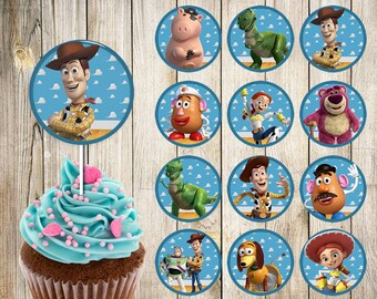 Toy Story Cupcake Toppers Etsy