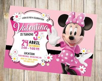 Minnie Mouse Invitation Party Birthday Theme Printables