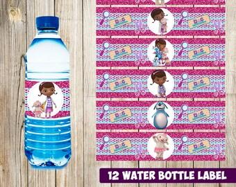 12 Doc McStuffins Water Bottle Label Instant Download Printable