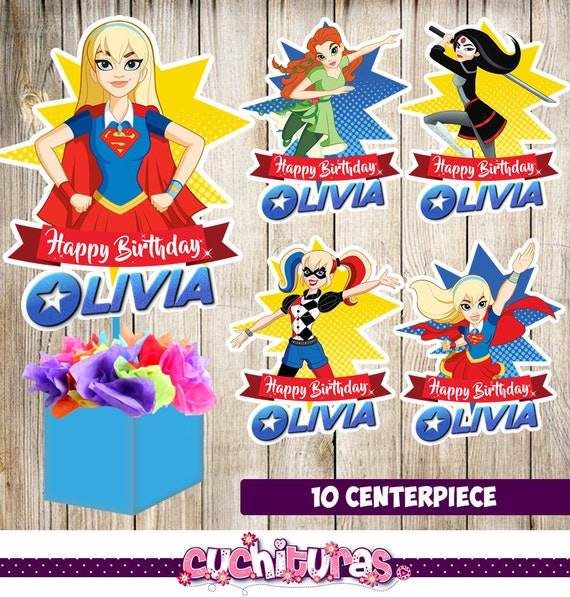 10 DC Super Hero Girls Centerpieces